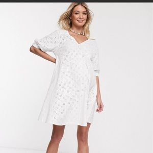 ASOS Maternity puff sleeve mini swing dress new